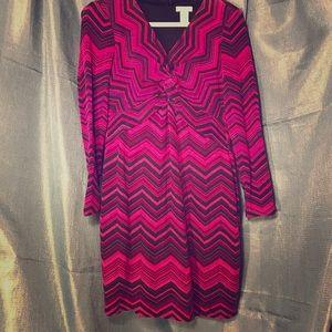 Cache purple chevron sweater dress XL petite